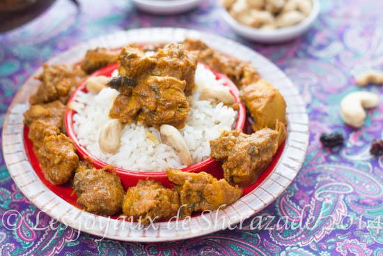 Recette indienne : poulet aux noix de cajou