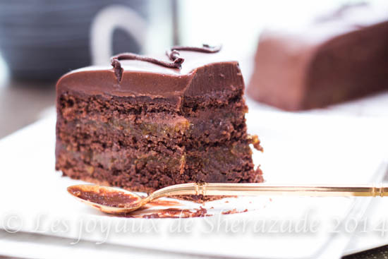 gateau au chocolat , sachertorte