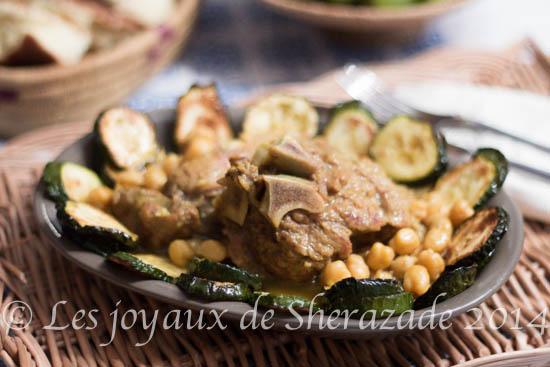 ragout de courgettes , recette algérienne