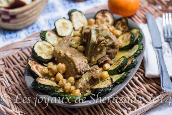 recette algérienne/ ragout de courgettes