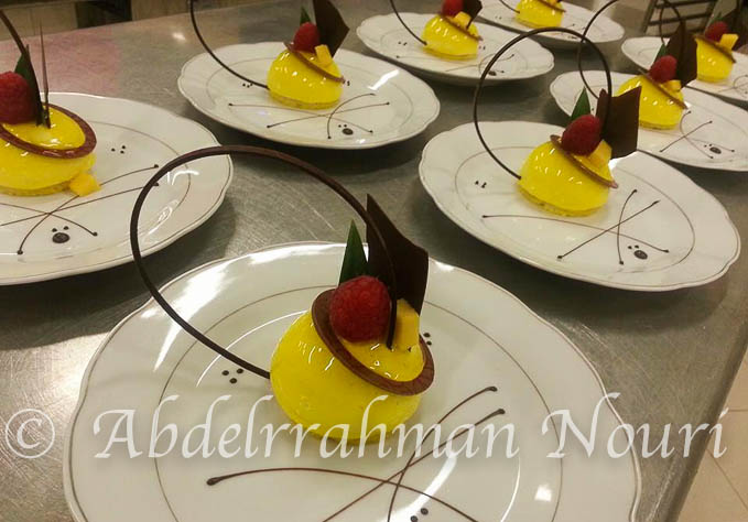 dessert à l'assiette