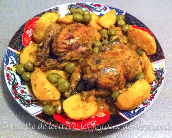 Recette coquelet en cocotte aux olives