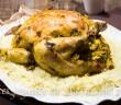 poulet rôti farci