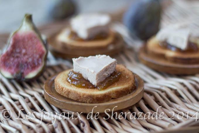 toast fois gras au chutney de figues