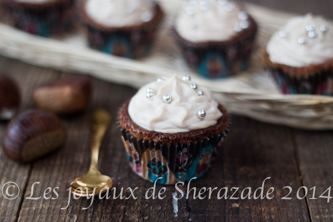 Cupcake sans gluten à la crème de marron