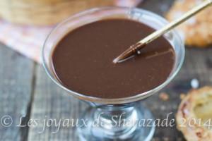 sauce au chocolat pour napper les desserts