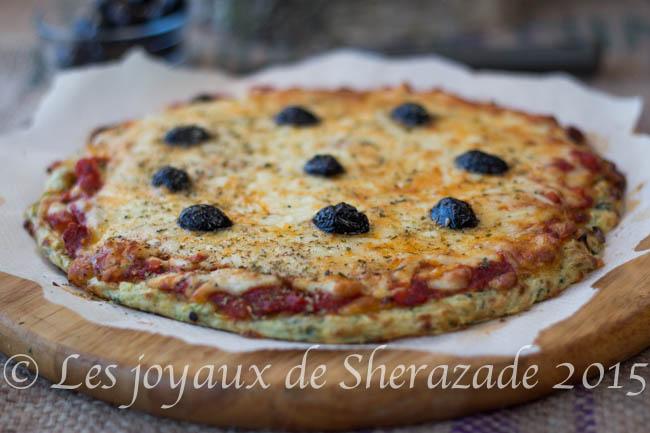 recette de pizza aux courgettes