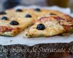pizza aux courgettes