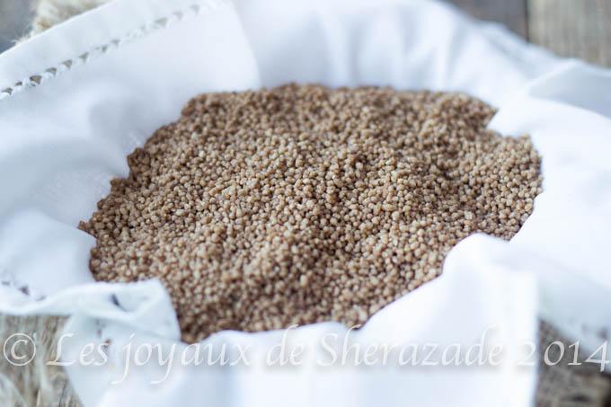 Couscous sans gluten, couscous aux glands
