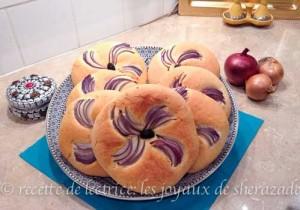 pain aux oignons et l'huile d'olive