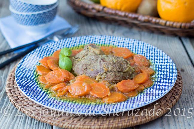 Tajine algérien aux carottes