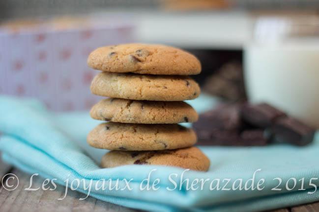 cookies aux pépites de chocolat moelleux