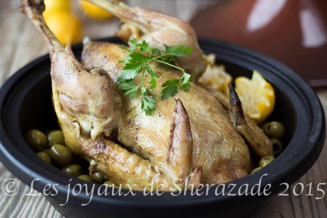 Recette de coq aux olives