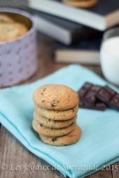 cookies moelleux aux de chocolat
