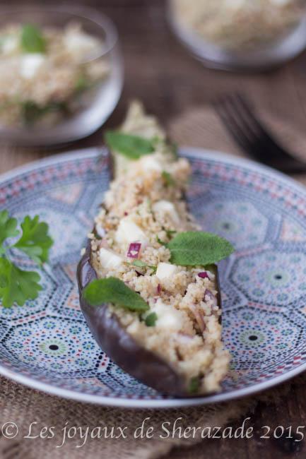 aubergines farcies au couscous