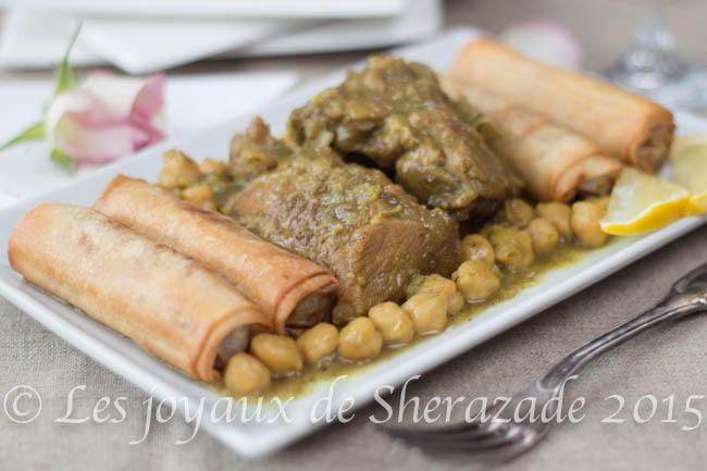 plat algérien à la viande