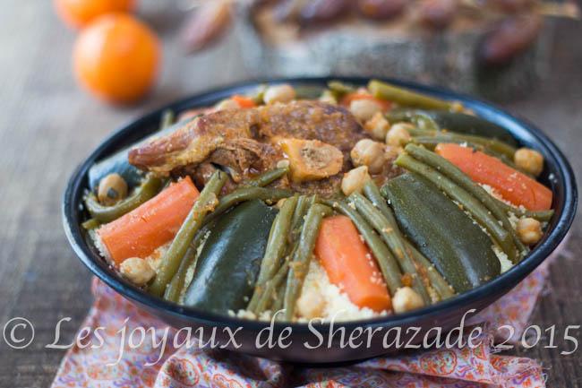 Couscous algérien aux haricots verts