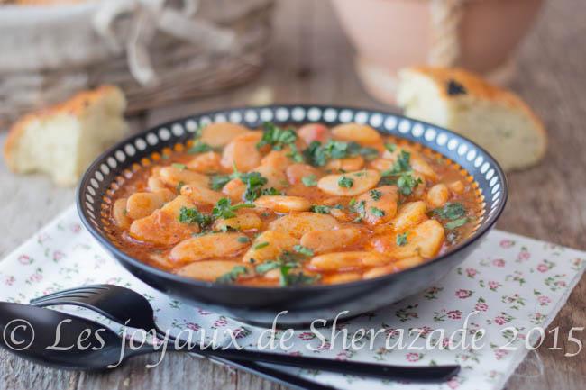 haricots blancs sauce rouge sans viande