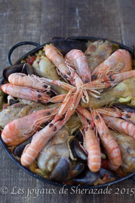 recette de paella fruits de mer