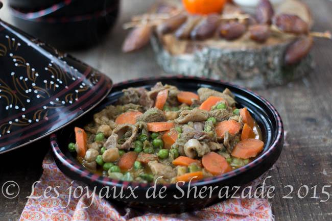 Tripes aux légumes / douwara bel khodra