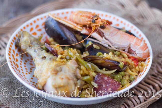 paella au poulet et fruits de mer
