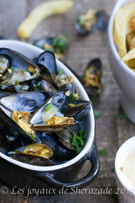 recette de moules marnières facile rapide