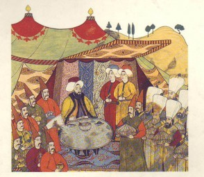 Festin d'un pacha ottoman.