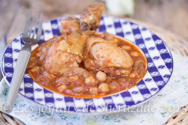 poulet aux oignons, cuisine algérienne