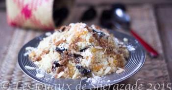 couscous sucré aux fruits secs