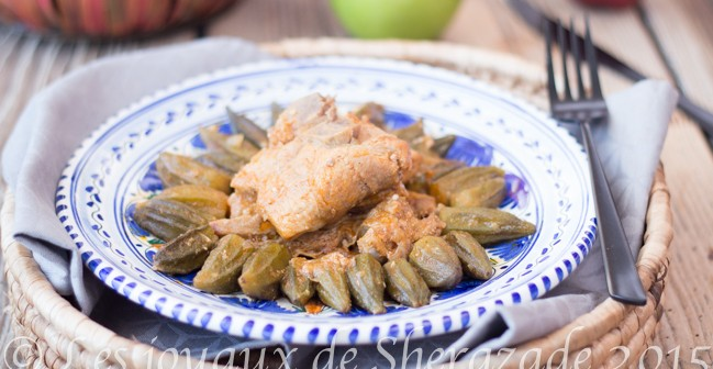 Tajine gnawia ( ragoût de gombos algérien )