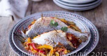 poisson aux légumes au four