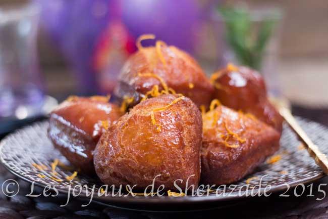 beignet à l'orange et au miel