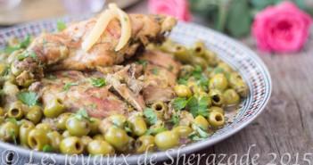 tajine de lapin aux olives et citron confit