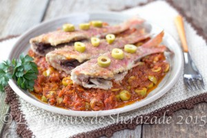 Recette de rouget à la sauce provençale