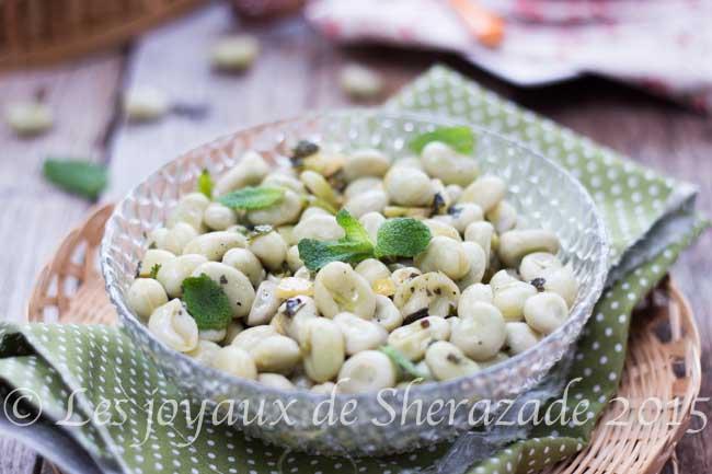 salade de fèves fraiches