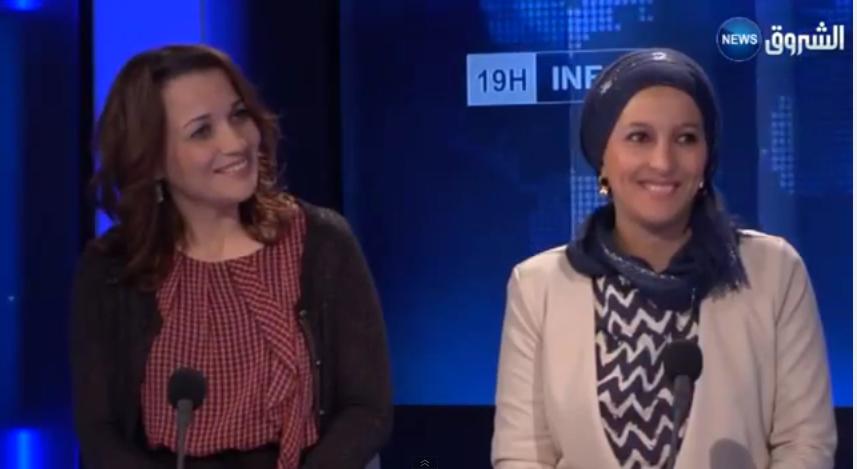 Sherazade sur chourouk TV pour la promotion du livre sur la cuisine algérienne