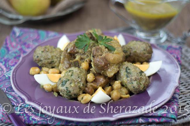Boules de viande hachée aux oeufs , recette algérienne