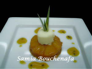tarte tatin ananas sur sablé breton3