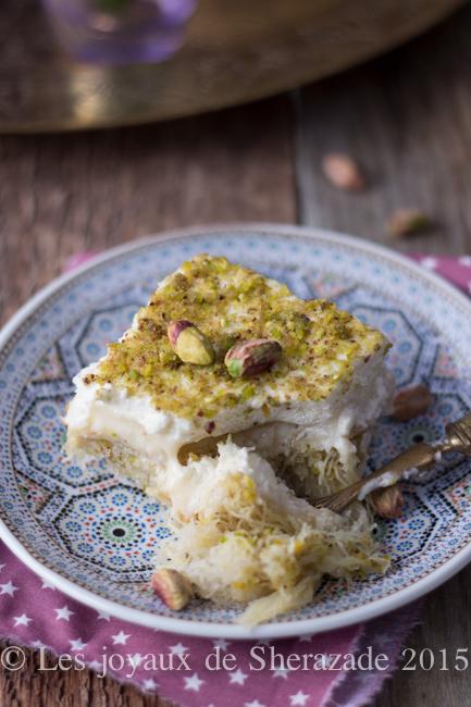 recette facile au kataif pistache