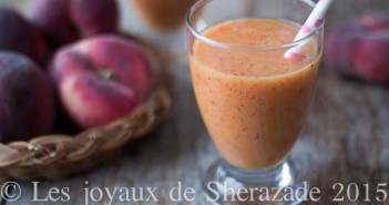 smoothie de pêches-gingembre