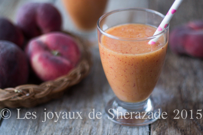 Smoothie pêche - gingembre