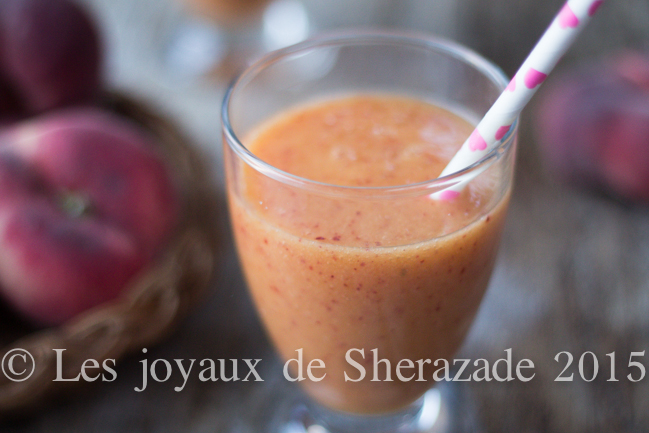 smoothie de pêches