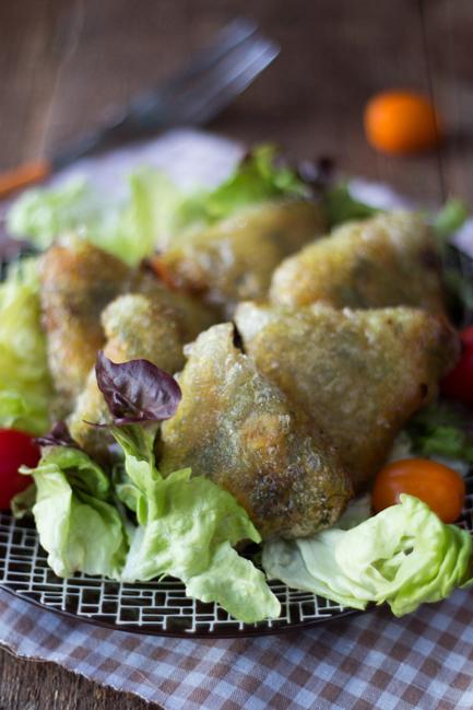 samoussas au poulet sans gluten