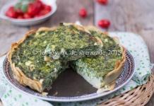 tarte aux épinards frais sans gluten