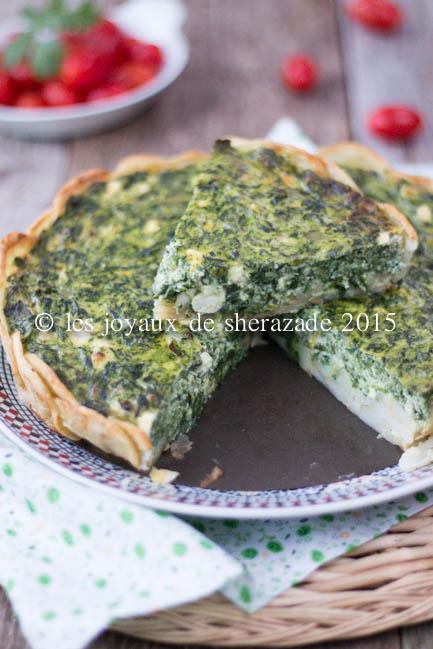 tarte aux épinards