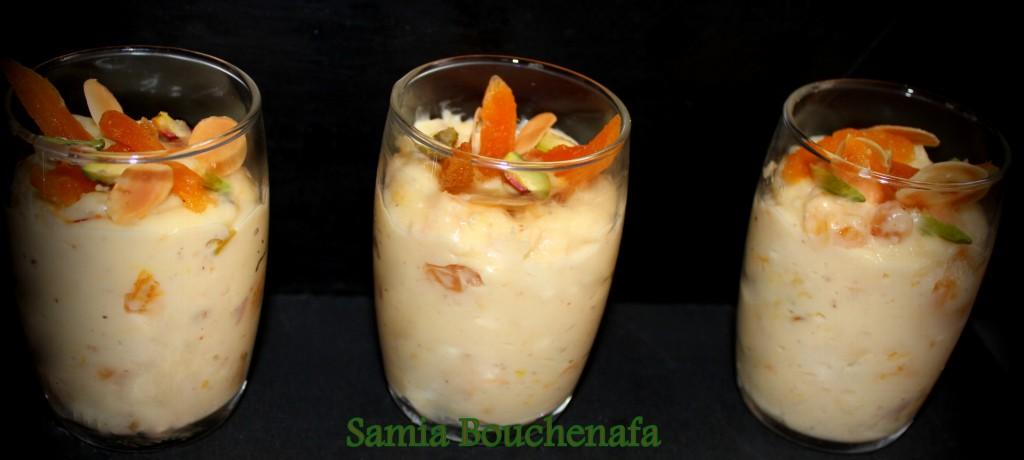 Crème de riz safranée aux saveurs orientales
