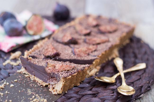 Tarte au chocolat et aux figues