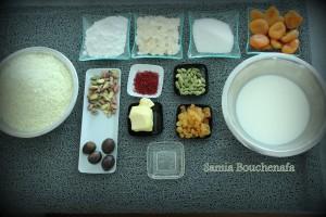 ingrédients crème de riz