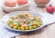 langue de veau aux olives
