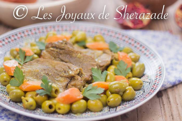 tajine de langue de veau aux olives